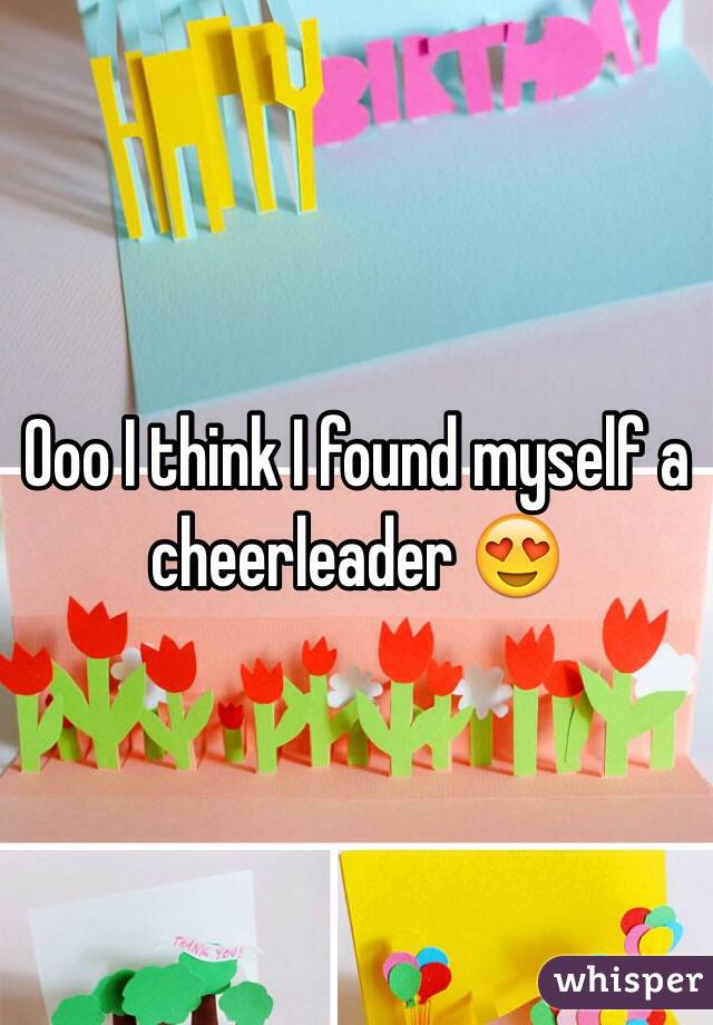 Ooo I think I found myself a cheerleader 😍
