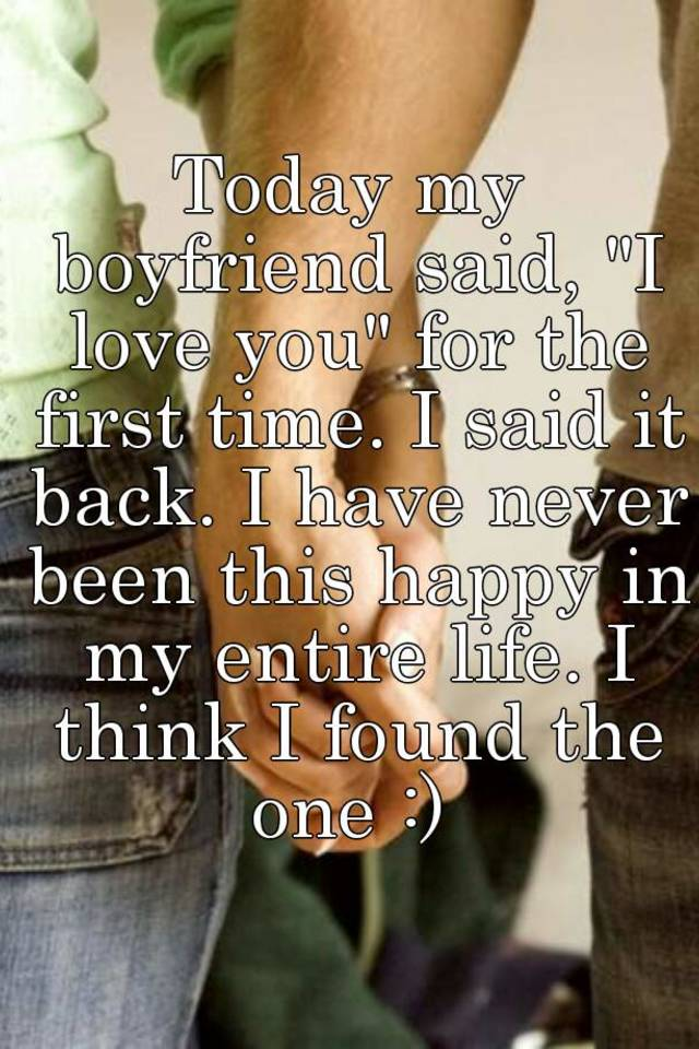 The first i love you