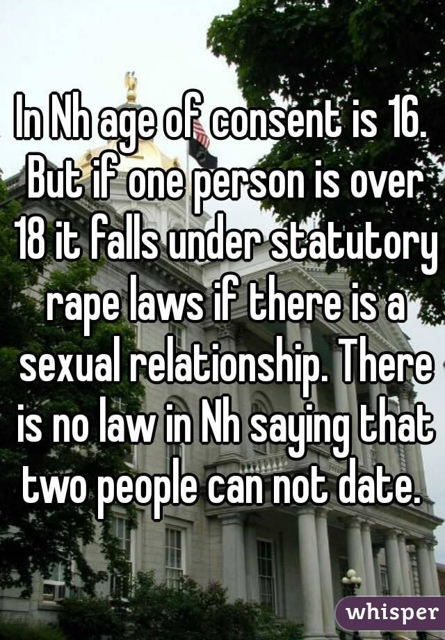 Laws about dating someone under 18