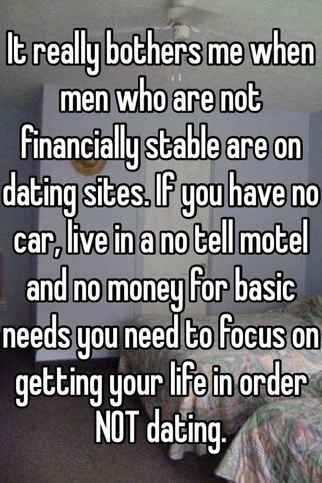 Dating financially stable men