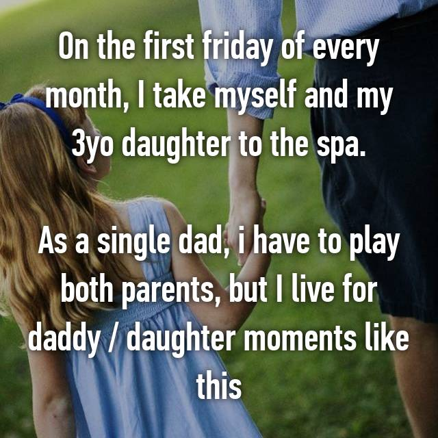 On the first friday of every month, I take myself and my 3yo daughter to the spa.  As a single dad, i have to play both parents, but I live for daddy / daughter moments like this