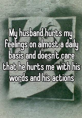 What to do when your husband hurts your feelings