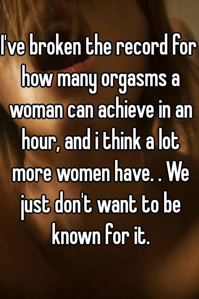 How many orgasms can a girl have