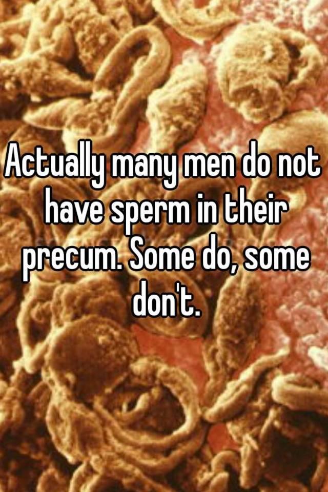 How much sperm is in precum
