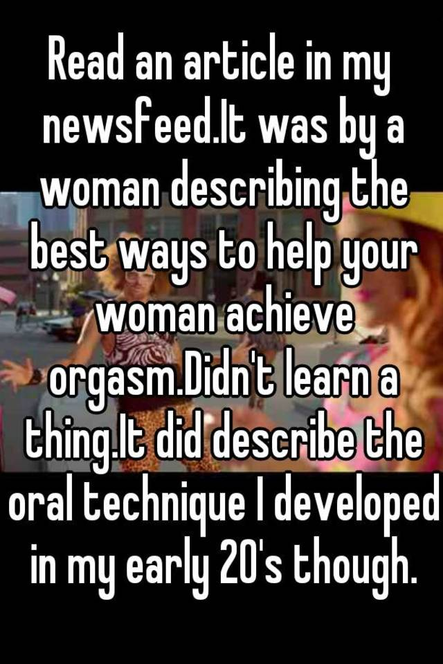 Describing an orgasm