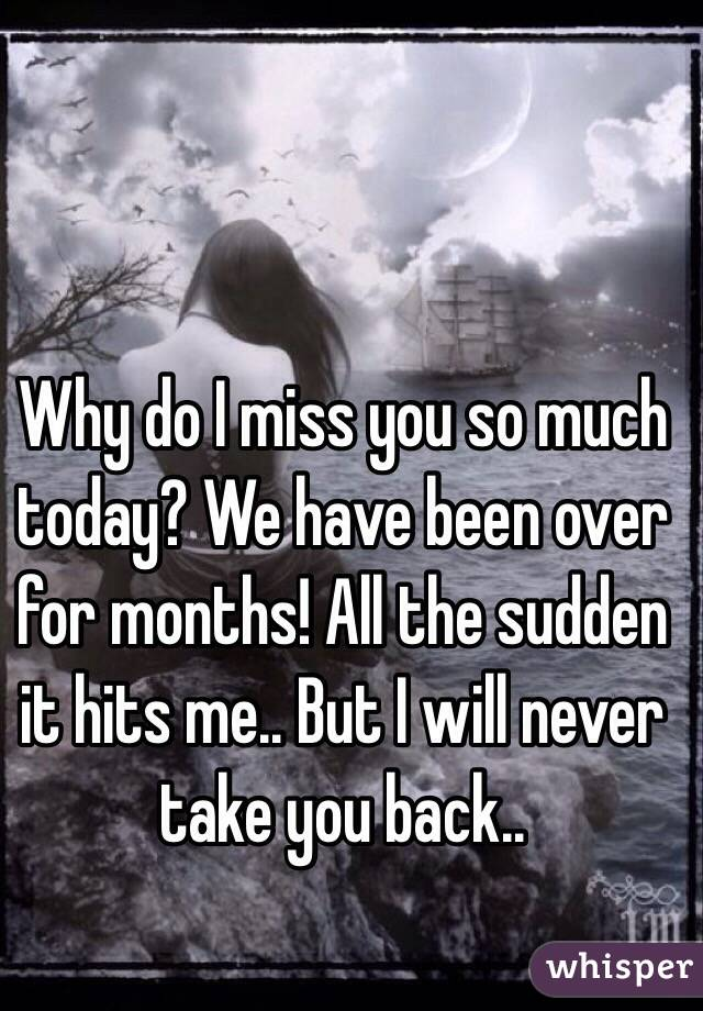 why do i miss you so much