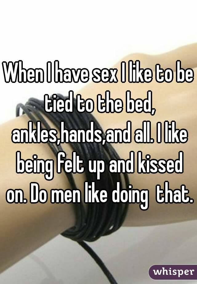 What does a man like in bed