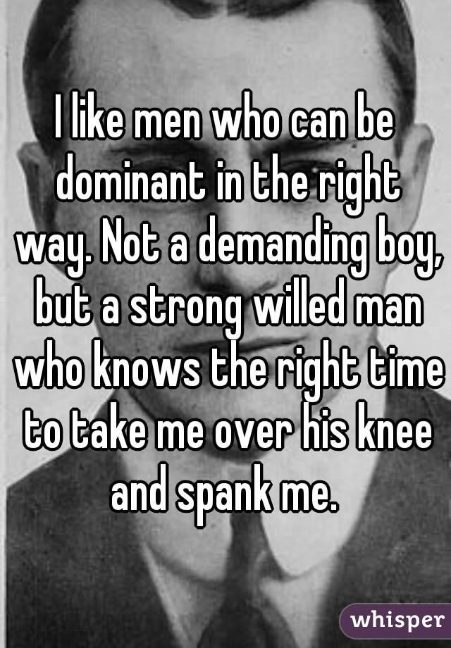 how to talk dominant to a man