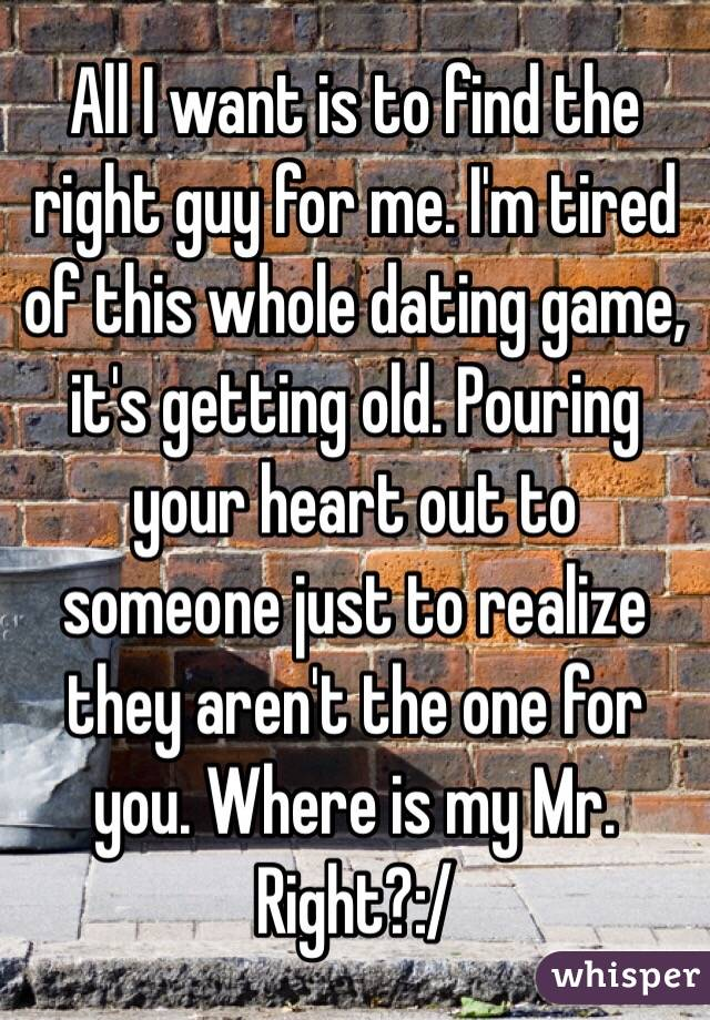 Dating how to find the right guy