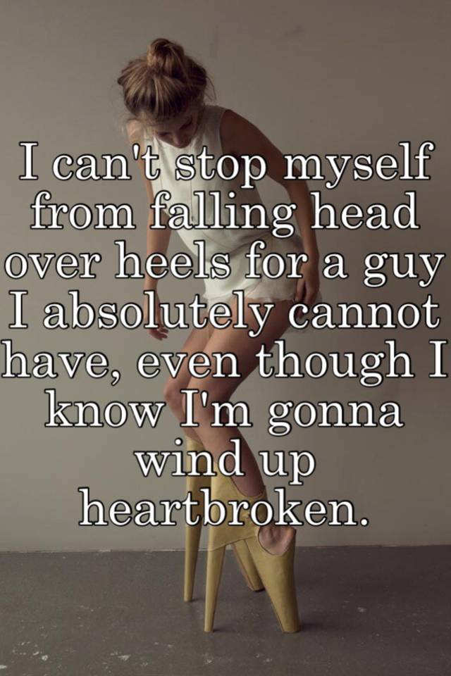 Falling head over heels for someone