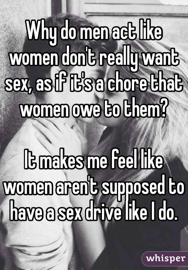why do men want sex