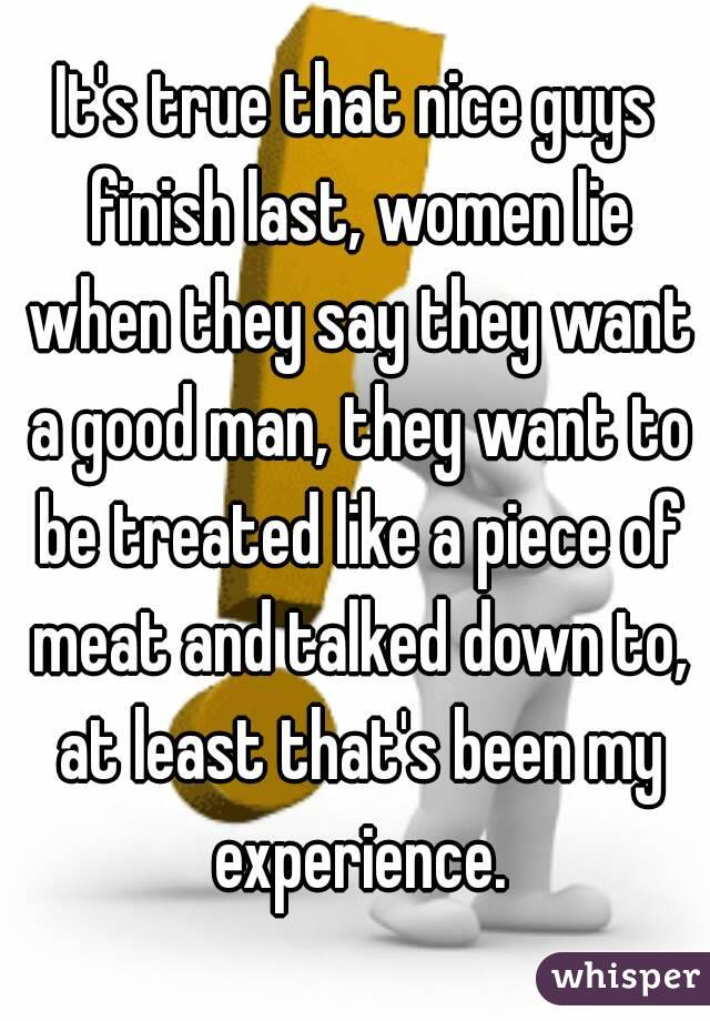 Women Say They Want A Good Man
