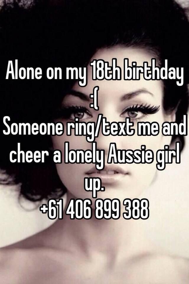 cheer a girl up through text
