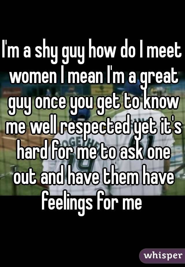 How to meet women when you are shy