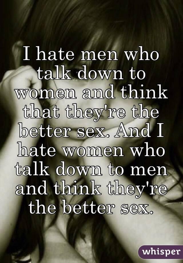 Why Do Men Talk Down To Women
