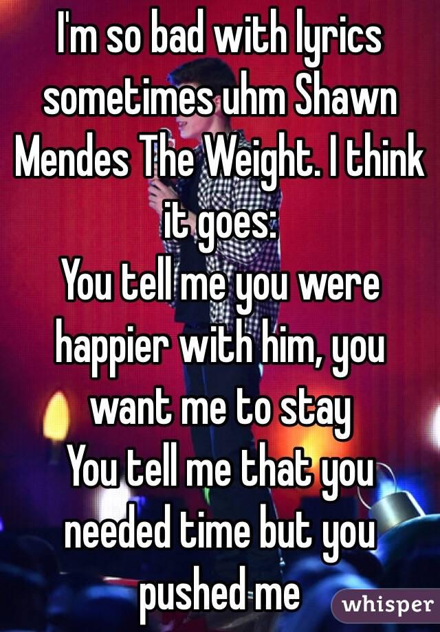 Tell him what you want lyrics