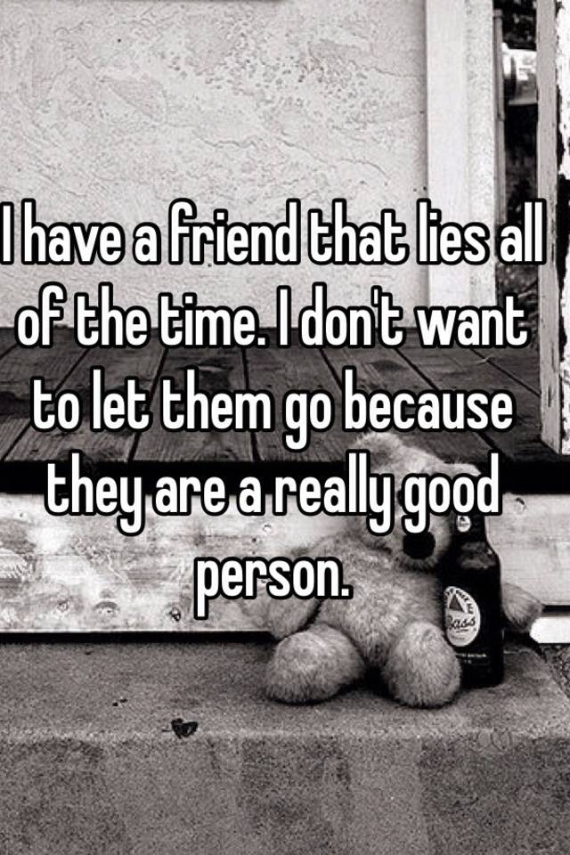 a person who lies all the time