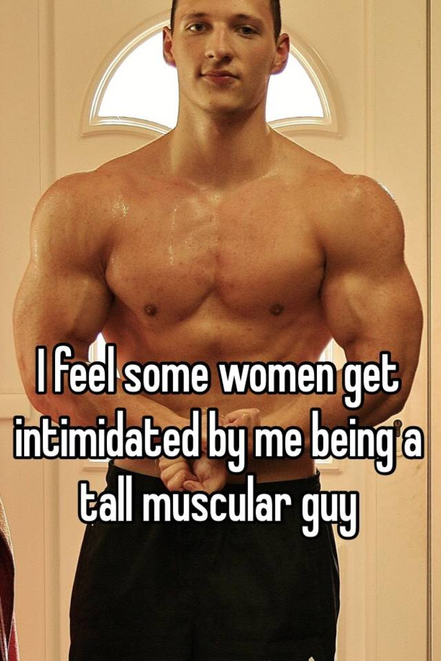 Tall muscular guys intimidating
