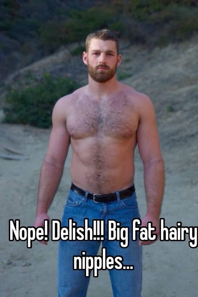 Hairy male nipples