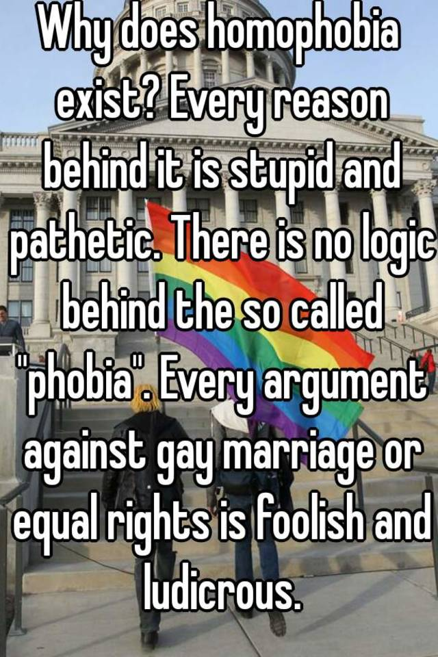 Stupid arguments against same sex marriage