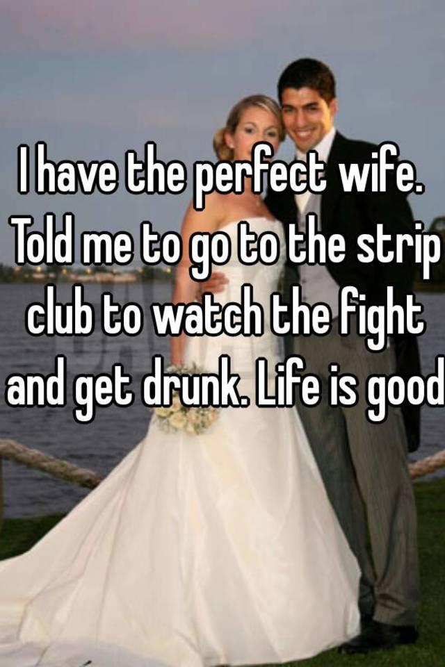 Club drunk strip wife