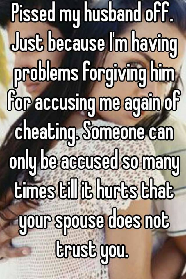 Forgiving a spouse for cheating