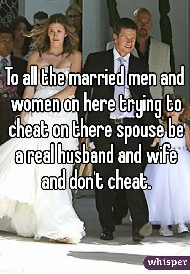 Do Married Women Like To Cheat