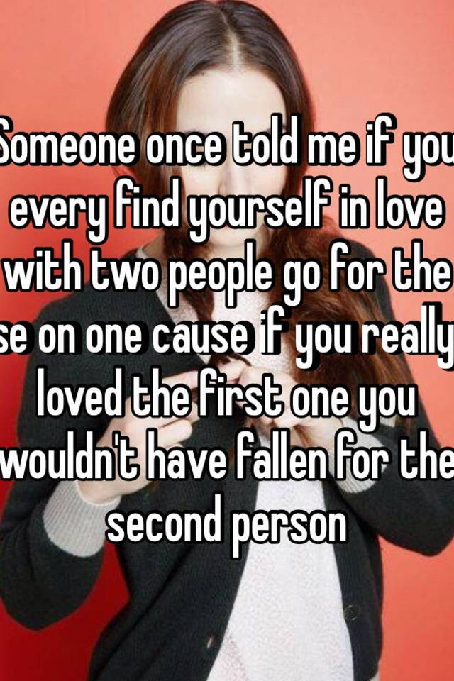 At with In love once people