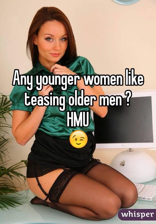 women teasing men