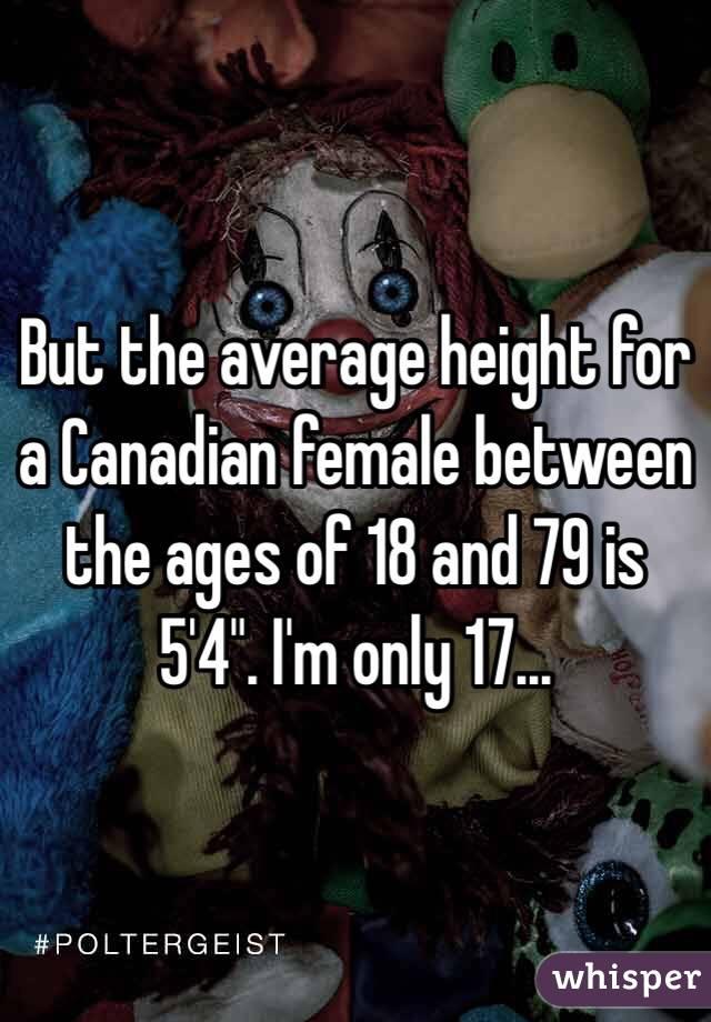 Average height canadian women