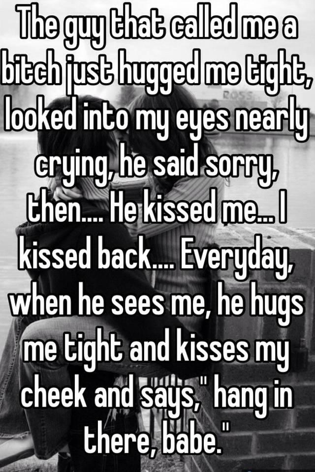 Me Cheek Me Hugged Kissed He