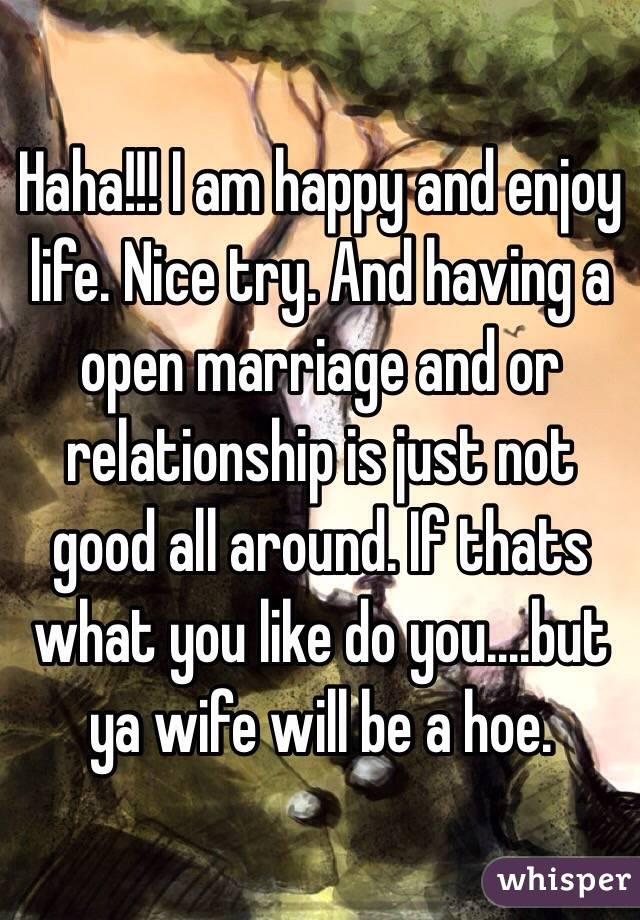 having an open marriage