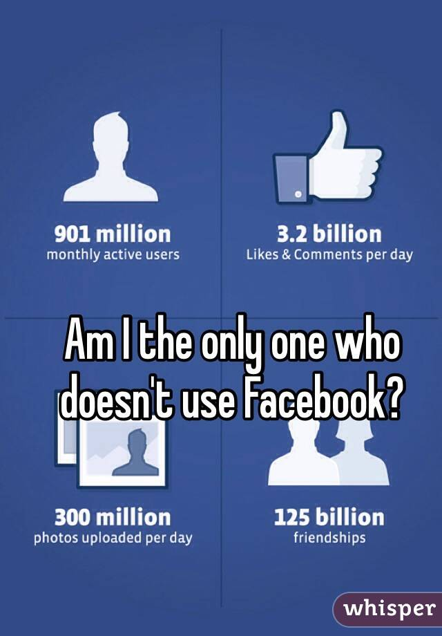 Am I the only one who doesn't use Facebook?