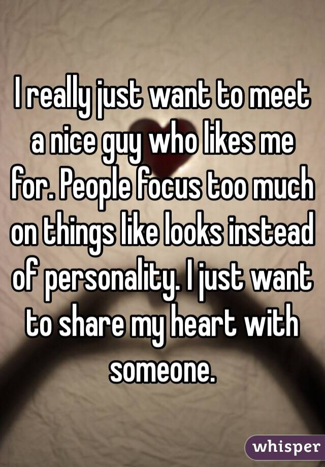 I Want To Meet A Nice Guy