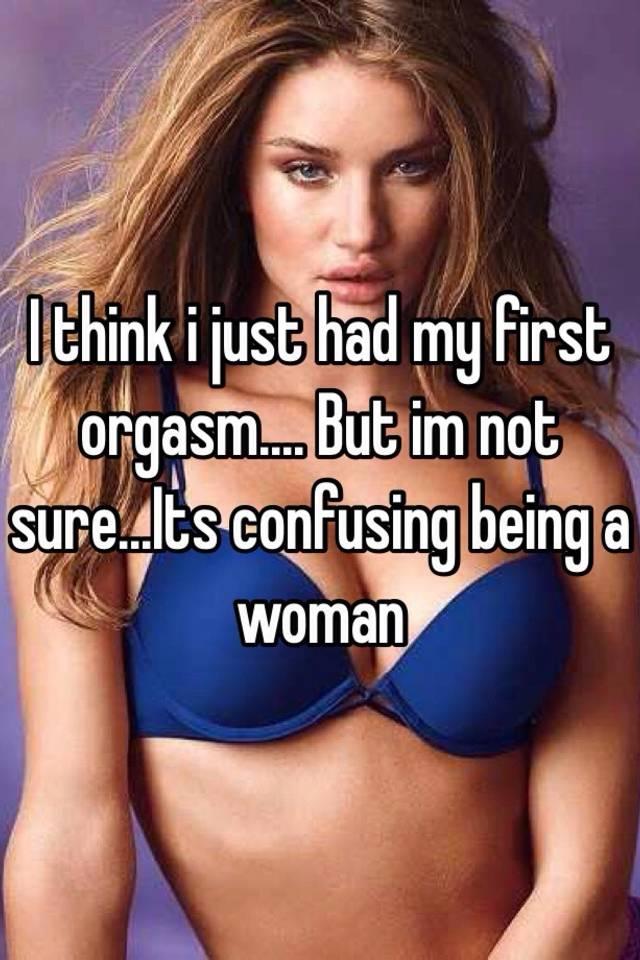 Womans 1st orgasm