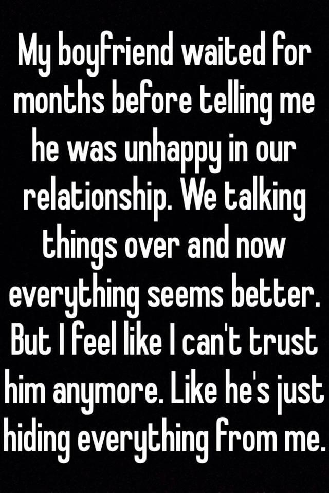 Unhappy with my boyfriend