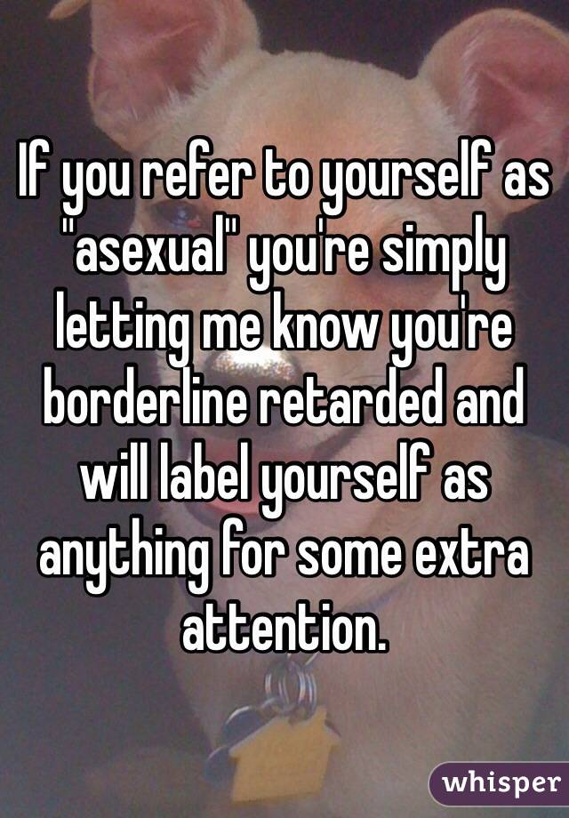 Asexuality confessions