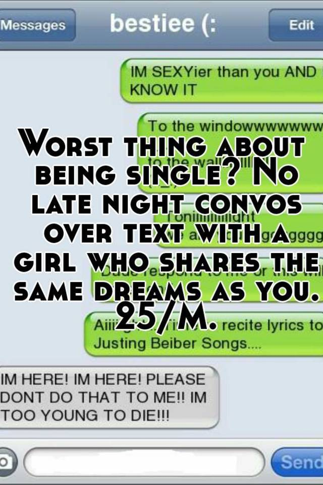 late night texts to a girl