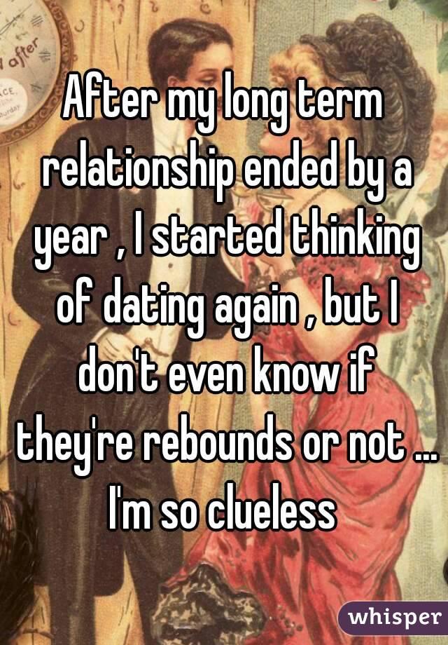 Hookup After A Long Term Relationship Ends