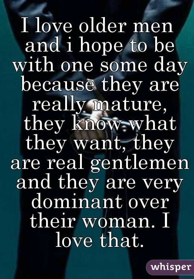 Mature Men I Like