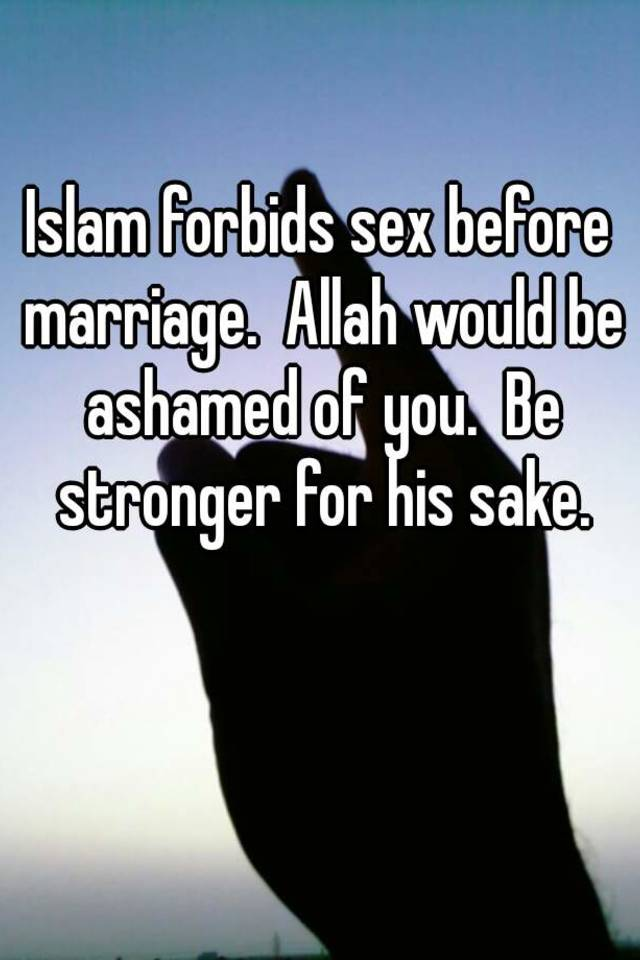 Sex outside of marriage in islam