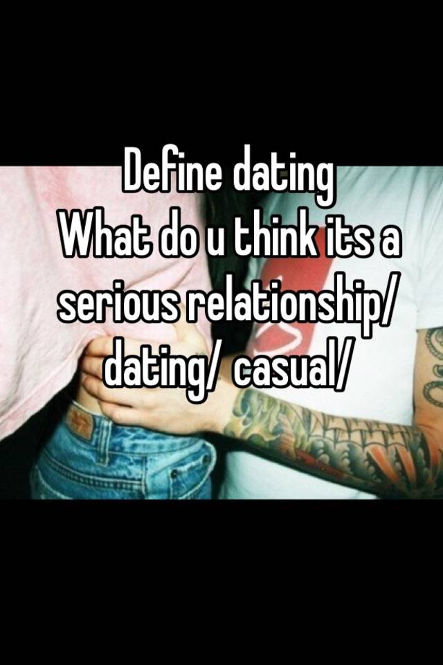 Define dating relationship