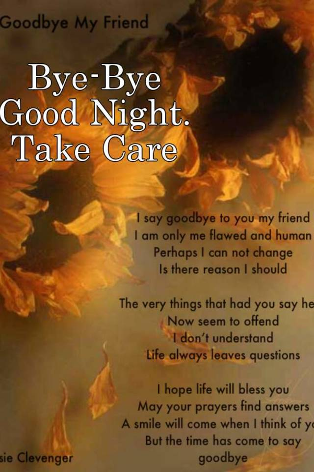 Good night and take care images