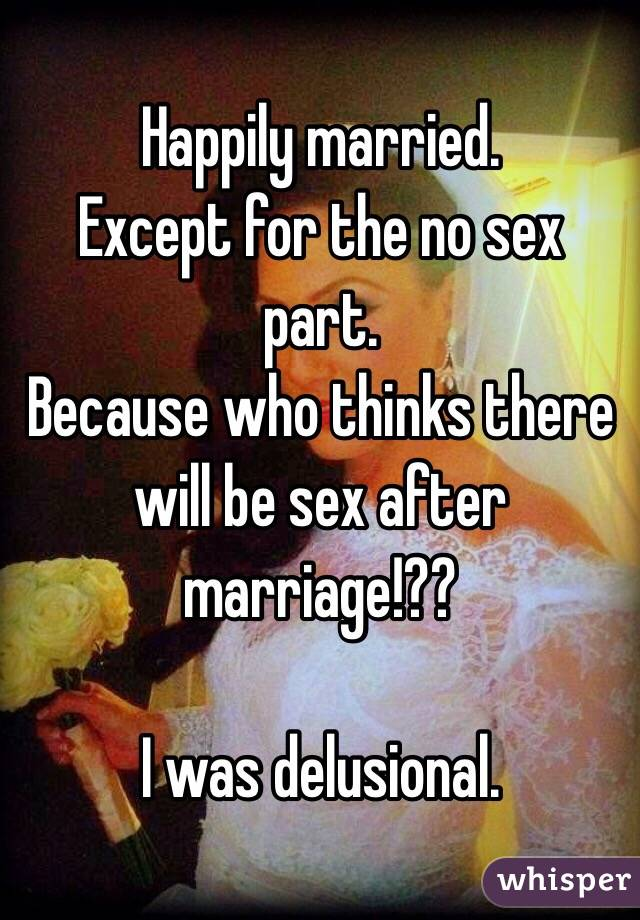 No sex in marriage