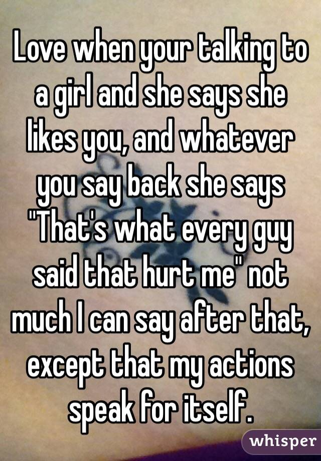 what you say to a girl you like