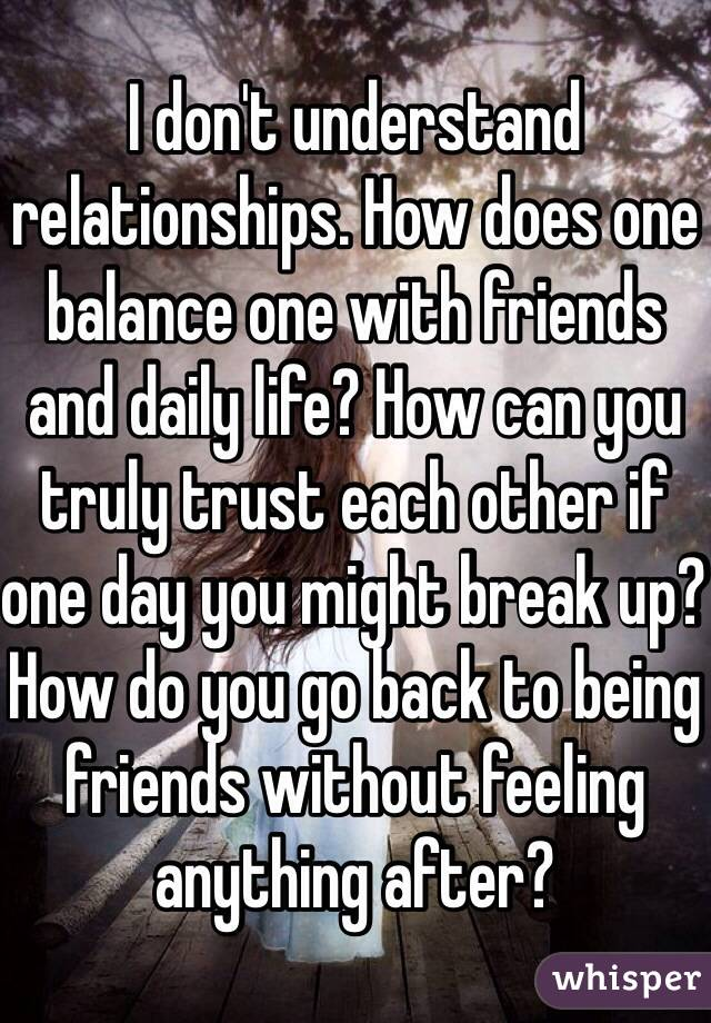 Can you go back to being friends after dating