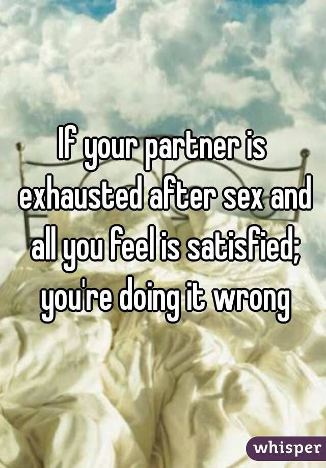 Why do you get tired after sex