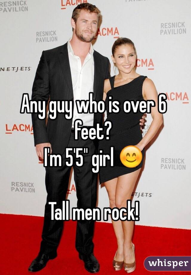 6ft tall guy