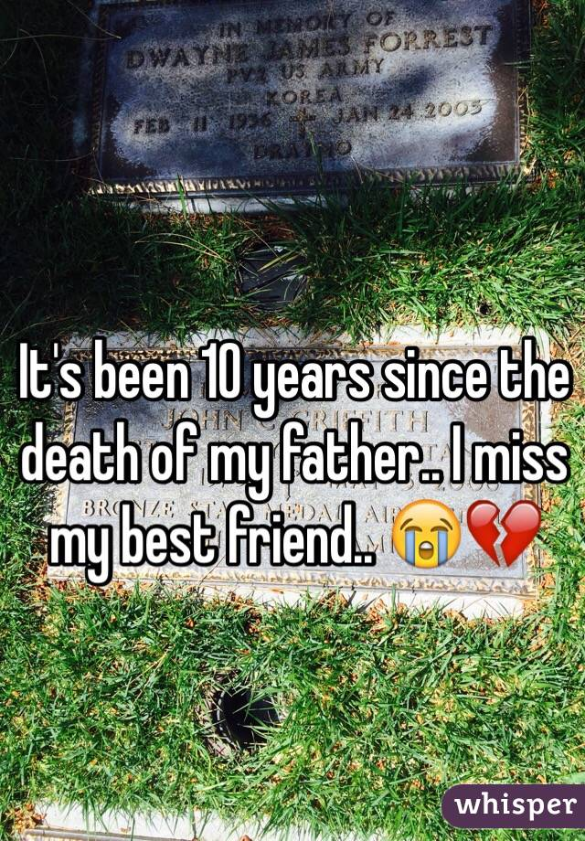It's been 10 years since the death of my father.. I miss my best friend.. 😭💔
