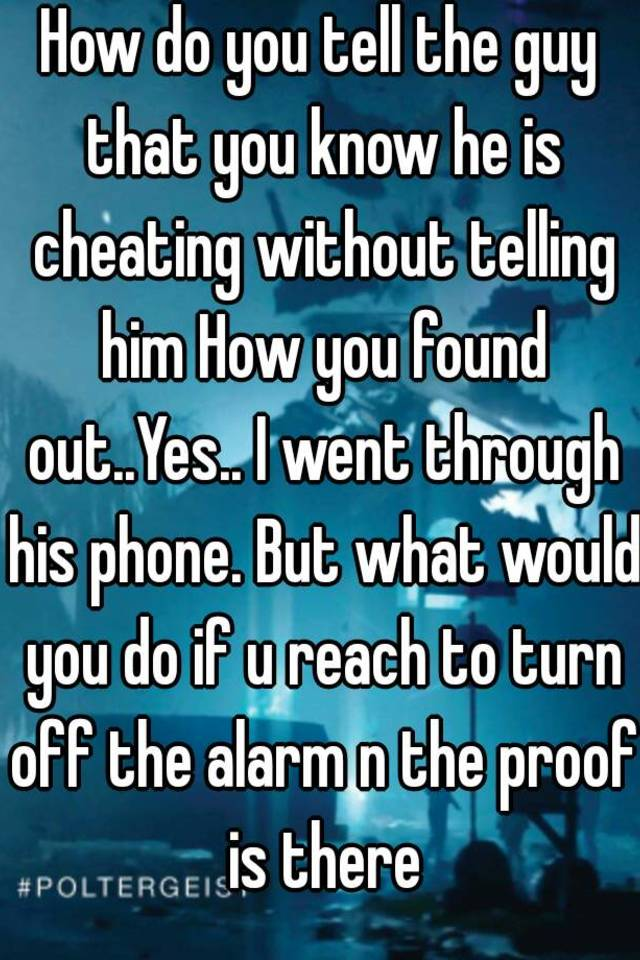 how to know someone is cheating